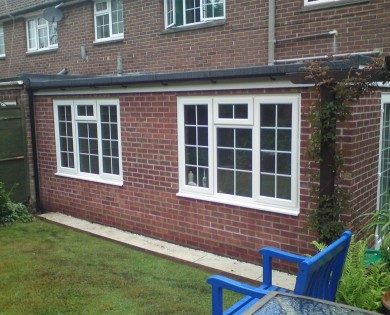 Extension before and after with kitchen