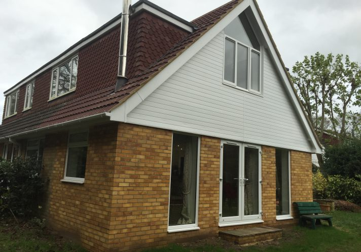 Extension to a chalet bungalow in Rake.